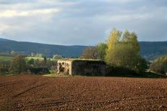 Bunker in Slavikov, repubblica Ceca, Cechia fotografia stock