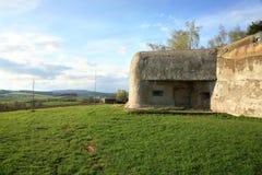 Bunker in Slavikov, repubblica Ceca, Cechia fotografie stock