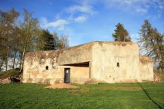 Bunker in Slavikov, Tsjechische Republiek, Czechia royalty-vrije stock afbeeldingen