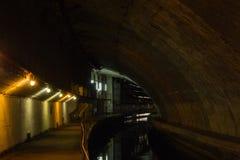 Bunker sottomarino sotterraneo dalla guerra fredda L'Ucraina, Sevasto fotografia stock