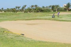 Bunker su un terreno da golf Fotografia Stock