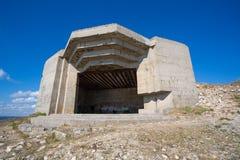 Bunker tedesco dalla seconda guerra mondiale e dall'Oceano Atlantico Immagini Stock