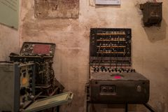 Bunker in Thang Long Citadel in Hanoi, Vietnam royalty free stock photos