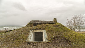 Bunker vid havet royaltyfria foton