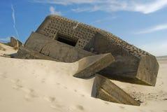 Bunker vom Zweiten Weltkrieg Stockfotografie