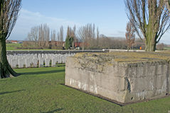 Bunker in a war cemetery Royalty Free Stock Photo