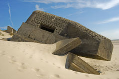 Bunker from World War II Stock Photography