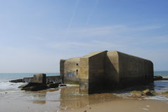 Bunker from world war II Stock Images