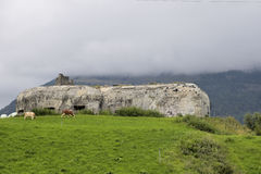Bunker from World War II, part of the Alps Wall, Alta Val Venosta/Obervinschgau, South Tirol, Italy Stock Image