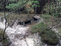 Bunker of ww2 in Poland Stock Photo
