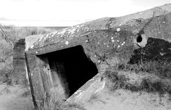 Bunker WW2 Utah beach Royalty Free Stock Photo