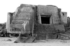 Bunker WW2 Utah beach Royalty Free Stock Photography