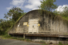 Bunker1. Abandoned  Bomb bunker from the Navy Stock Photos