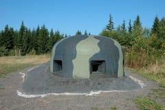 Bunkerbeobachtungskuppel Stockfotos