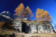 bunkerdolomites italy Arkivfoto