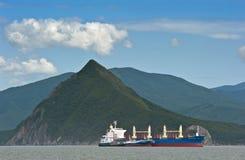 Bunkering tanker Zaliv Vostok balker Indian Ocean. Nakhodka Bay. East (Japan) Sea. 02.08.2015 Stock Image