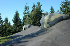 Bunkerobservationskupol Royaltyfri Foto