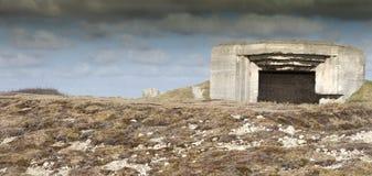 Bunkerruïnes Royalty-vrije Stock Afbeeldingen
