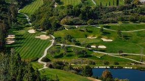 Bunkers. Los Arqueros Golf is a mixed course situated only 10 minutes from Marbella, Spain. It is set among mountains of the Sierra de Ronda Royalty Free Stock Images