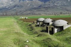 Bunkers on field Royalty Free Stock Photo