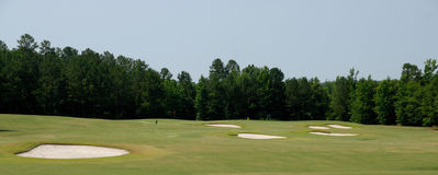 Bunkers on golf course Royalty Free Stock Photography