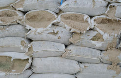 Bunkers made of sandbags Stock Image
