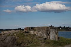 Bunkers from the ww2 in stavanger Stock Photos