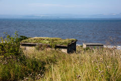Bunkers. WWII bunkers on Crammond Island, Edinburgh, Scotland Royalty Free Stock Photo