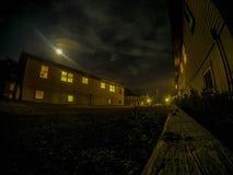 Bunkhouses bij nacht royalty-vrije stock foto