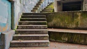 bunkierów kroki betonowi lewy Zdjęcia Stock