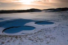 bunkierów kursowy zakrywający jutrzenkowy świntuchów śnieg Zdjęcia Royalty Free