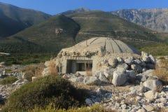 Bunkier w Albania, Zimna wojna Obrazy Royalty Free
