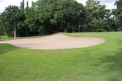 bunkieru kursu golfa piasek Fotografia Stock