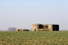 bunkra systemet ww1 Fotografering för Bildbyråer
