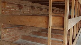 The Bunks In A Barrack