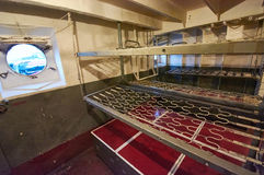 Bunks sailors on warship Royalty Free Stock Image