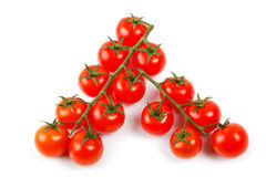 Bunnch of cherry tomatoes isolated on a white Stock Image