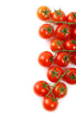 Bunnch of cherry tomatoes isolated on a white Royalty Free Stock Image