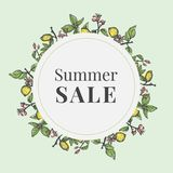 Bunner dla lato sprzedaży z cytrynami ilustracja wektor