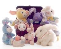 bunnies καλαθιών Στοκ Φωτογραφία