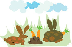 bunnies κατανάλωση Στοκ εικόνες με δικαίωμα ελεύθερης χρήσης