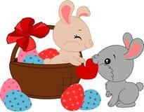 bunnies κινούμενα σχέδια Πάσχα Στοκ Εικόνες