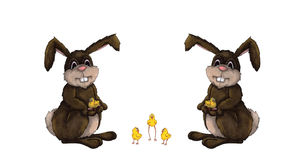 bunnies νεοσσός Πάσχα Στοκ εικόνα με δικαίωμα ελεύθερης χρήσης