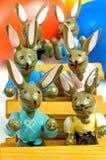 Bunnies Πάσχας στο σχολείο Στοκ Εικόνα