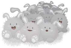 bunnies σκόνη ευτυχής ελεύθερη απεικόνιση δικαιώματος