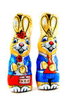bunnies σοκολάτα αστεία δύο Στοκ Φωτογραφία