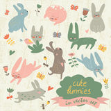 bunnies χαριτωμένα Στοκ φωτογραφίες με δικαίωμα ελεύθερης χρήσης