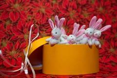 bunnies Χριστούγεννα Στοκ Εικόνες