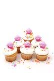 bunnies cupcakes Πάσχα έξι στοκ φωτογραφία με δικαίωμα ελεύθερης χρήσης