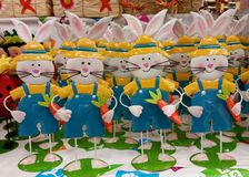 Bunnies decoration easter Stock Photography